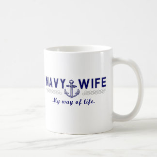 NAVY WIFE COFFEE MUG