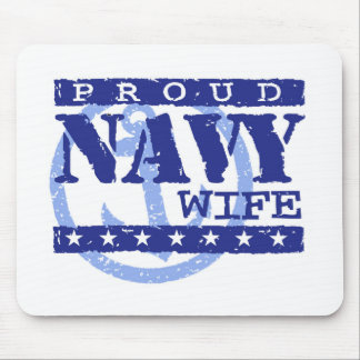 Navy Wife Mouse Pad