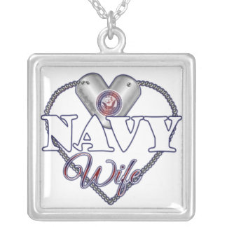 Navy Wife Silver Plated Necklace