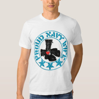 navy wife stamp t-shirt