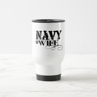 Navy WIFE Travel Mug