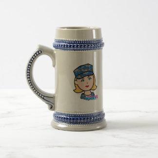 Navy Woman Beer Stein