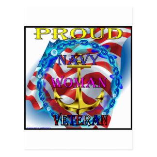 Navy Woman Veteran Postcard