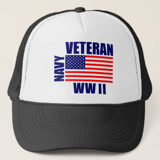 NAVY WW II Veteran Trucker Hat