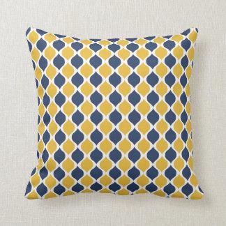 Navy & Yellow Geometric Throw Pillow 16x16