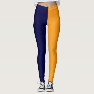 Navy yellow  high school pride colors leggings