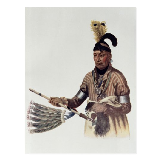 Naw-Kaw or 'Wood', a Winnebago Chief Postcard