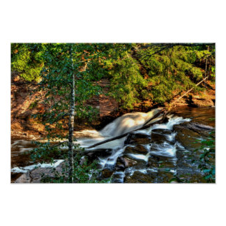 Nawadaha Falls, Michigan Poster