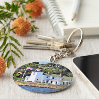 Nayatt Point Lighthouse, Rhode Island Keychain