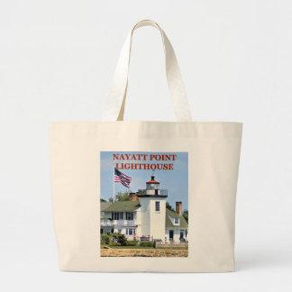 Nayatt Point Lighthouse, Rhode Island Tote Bag