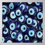 Nazar Amulets Evil Eye Stones Blue Pattern