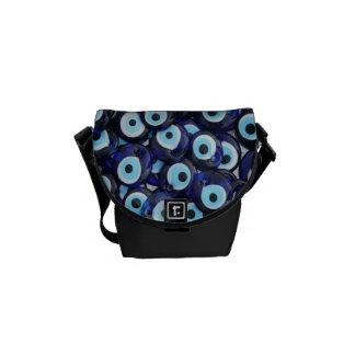 Nazar Amulets Evil Eye Stones Blue Pattern Commuter Bag
