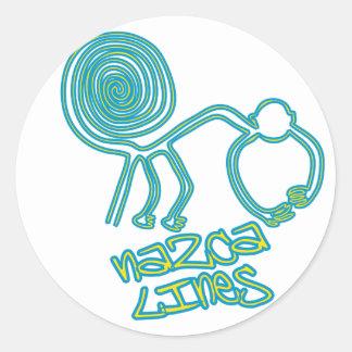 Nazca_Lines Classic Round Sticker