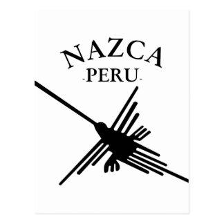 Nazca Peru Hummingbird With Curved Text Postcard