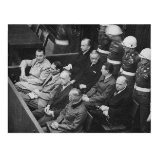 Nazi Defendants Sitting at the Nuremberg Trials Postcard