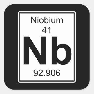 Nb - Niobium Square Sticker