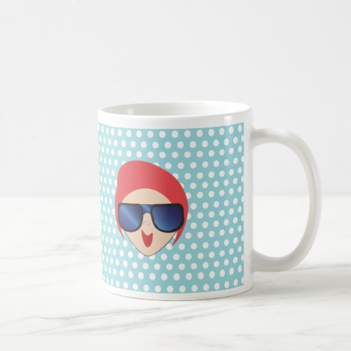 nc 0412 Shades Girl Mugs