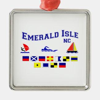NC Emerald Isle SIG FL Metal Ornament