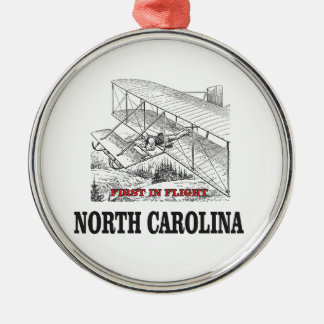 NC first in flight Metal Ornament