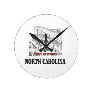 NC first in flight Round Clock
