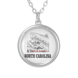 NC first in flight Silver Plated Necklace