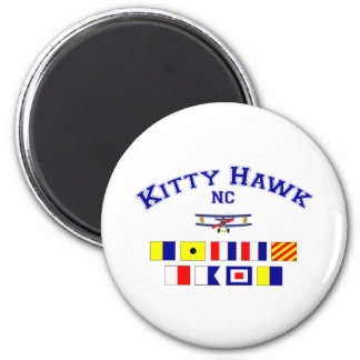 NC Kitty Hawk Signal Flags Magnet
