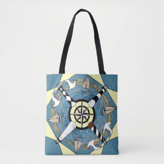 NC Lighthouses Tote Bag
