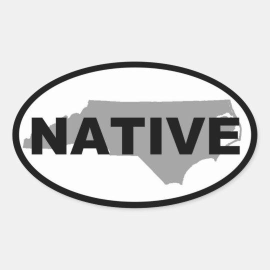 NC Native Oval Sticker