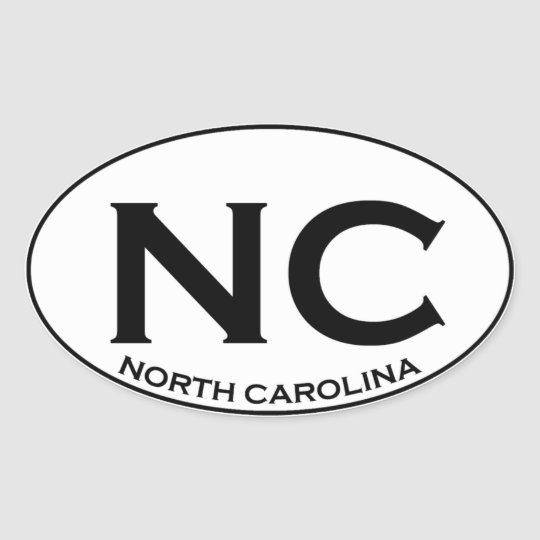 NC - North Carolina Oval Sticker