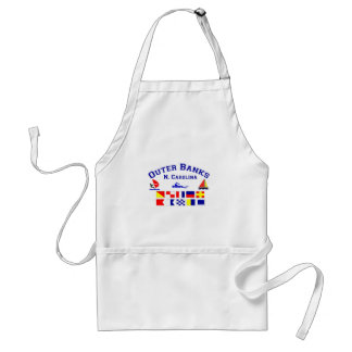 NC Outer Banks Signal Flags Adult Apron