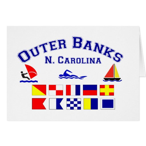 NC Outer Banks Signal Flags Cards