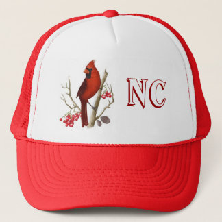 NC State Red Bird Hat. Trucker Hat