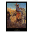 """NC Wyeth Wild West Painting """"jumping Horse"""" Card"""