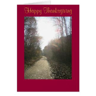 ncr trail 019, Happy Thanksgiving Greeting Card