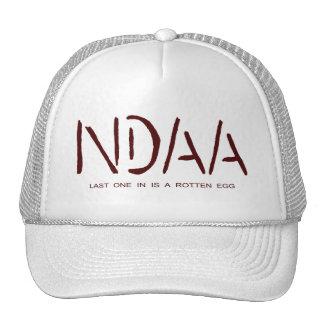 NDAA - Last one in is a rotten egg (dark red) Trucker Hat
