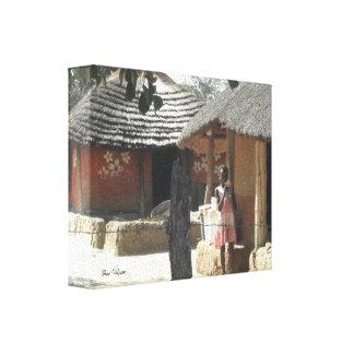 Ndebele Huts Canvas Print