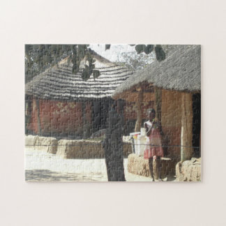 Ndebele Huts Jigsaw Puzzle