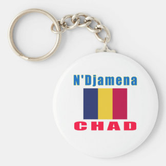 N'Djamena Chad capital designs Keychain