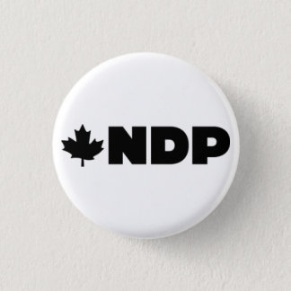 NDP Logo Alternative 1 Inch Round Button