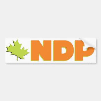 NDP Logo Bumper Sticker