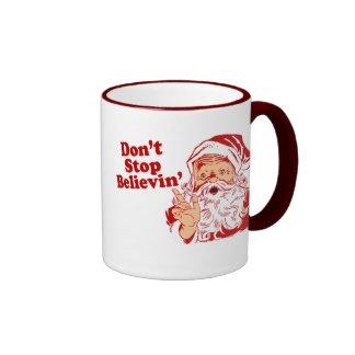 Ne cessez pas la croyance mugs à café