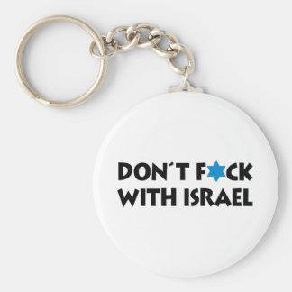 Ne font pas F*ck avec l'Israël - fierté juive Porte-clé Rond