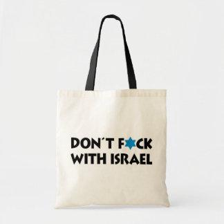 Ne font pas F*ck avec l'Israël Sac En Toile Budget