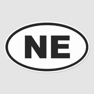 NE Nebraska Oval Sticker