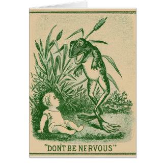 Ne soyez pas carte de note nerveuse de grenouille