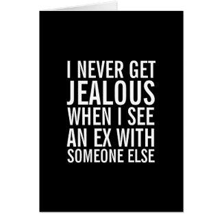 Ne soyez pas jaloux au-dessus de votre carte de vo