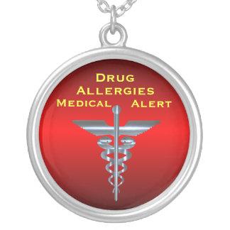 Ne vigilant médical de caducée d'Asclepius d'aller Pendentif Rond