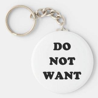 Ne voulez pas porte-clé rond