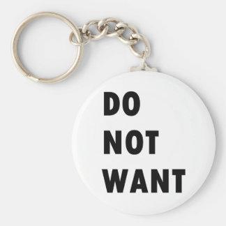 Ne voulez pas porte-clef