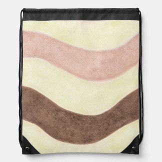 Neapolitan Color Inspired Drawstring Bag
